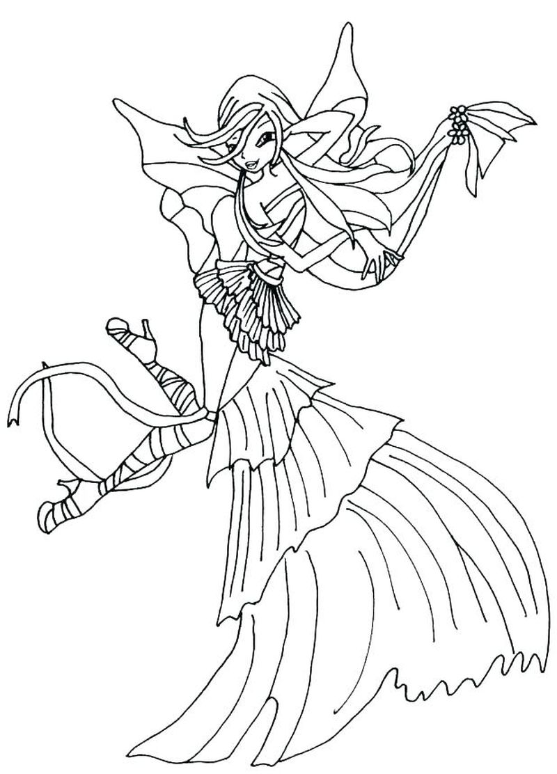 Winx Club Print Coloring Pages