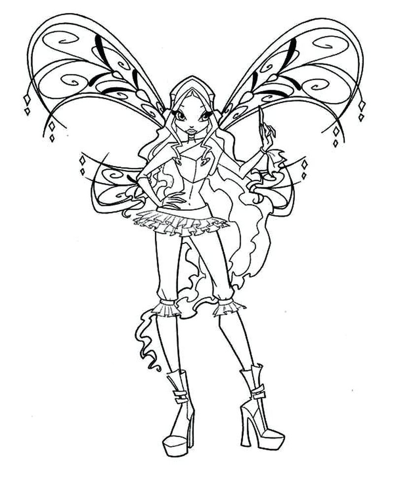 Winx Coloring Pages Bloom
