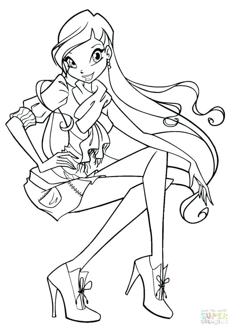 Winx Coloring Pages Free