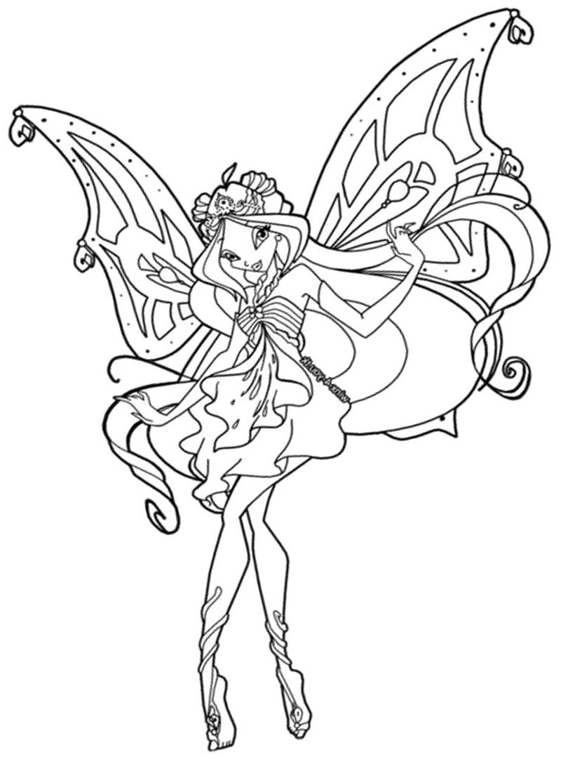 Winx Daphne Coloring Pages