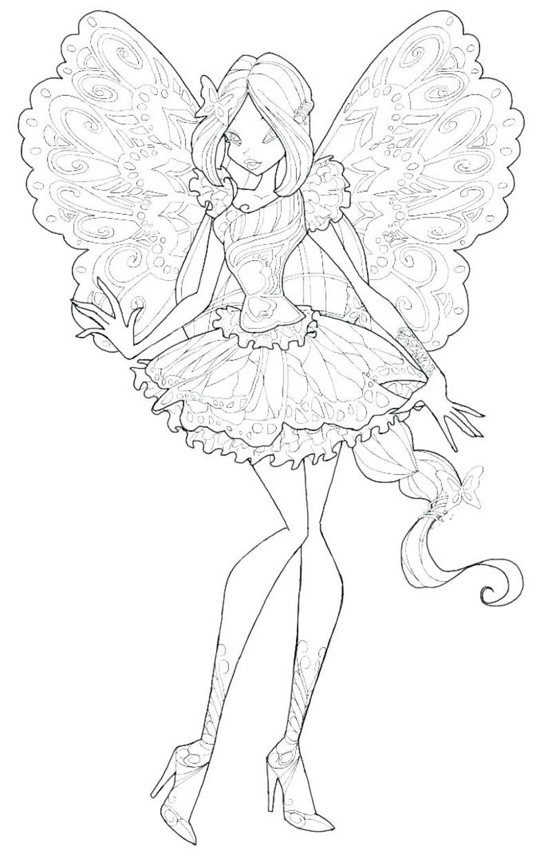 Winx Fairy Coloring Pages To Print