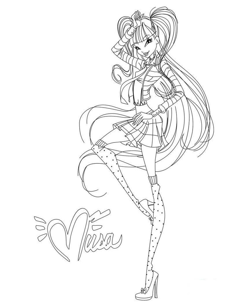 Winx Fairy Coloring Pages