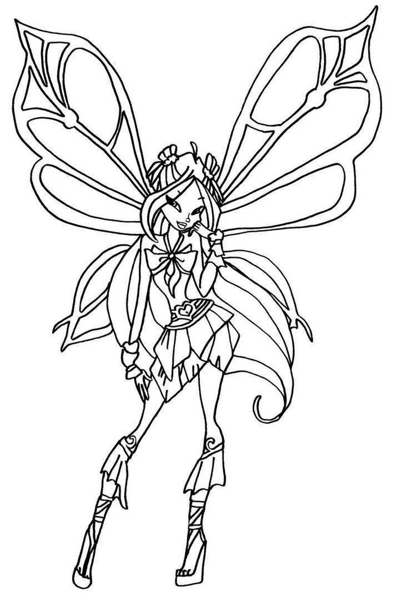 Winx Love Coloring Pages