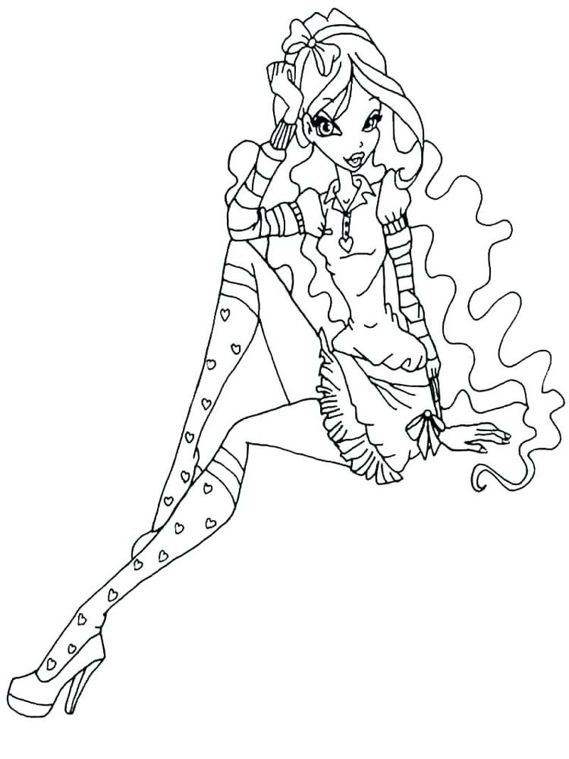 Winx Mythix Coloring Pages
