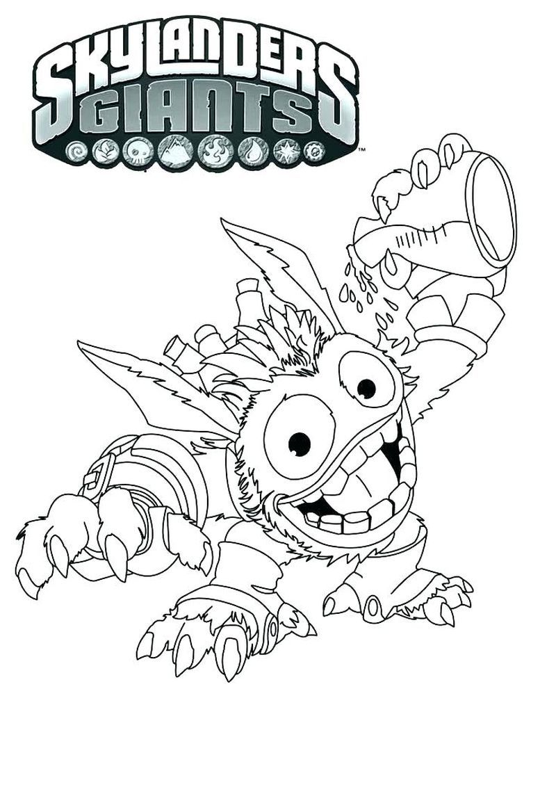 Wrecking Ball Skylanders Coloring Pages