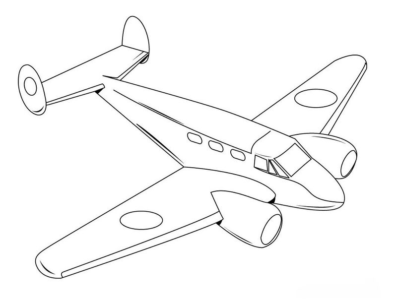 Wwii Airplane Coloring Pages