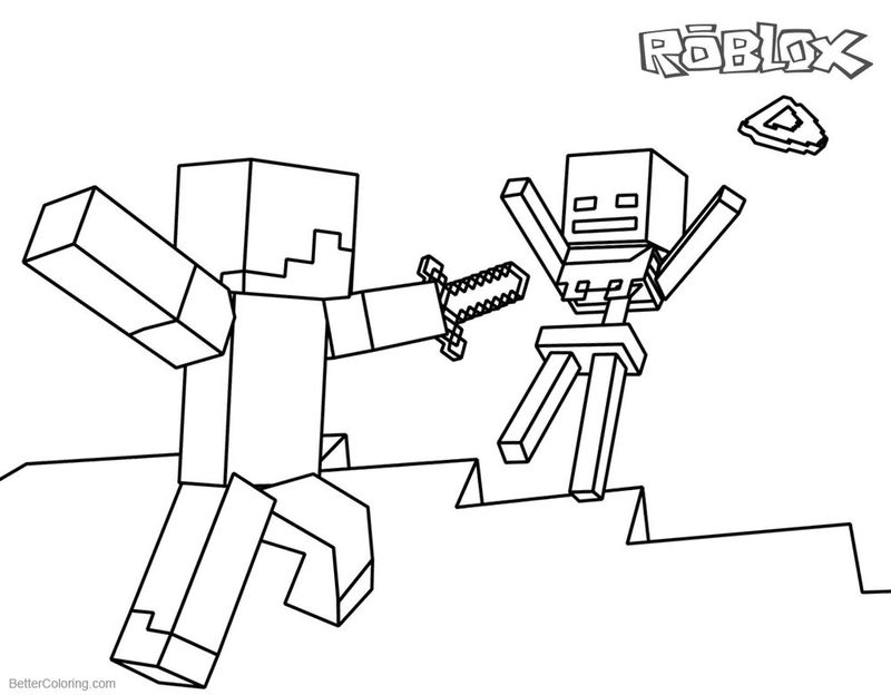 Www.Printible Roblox Coloring Pages