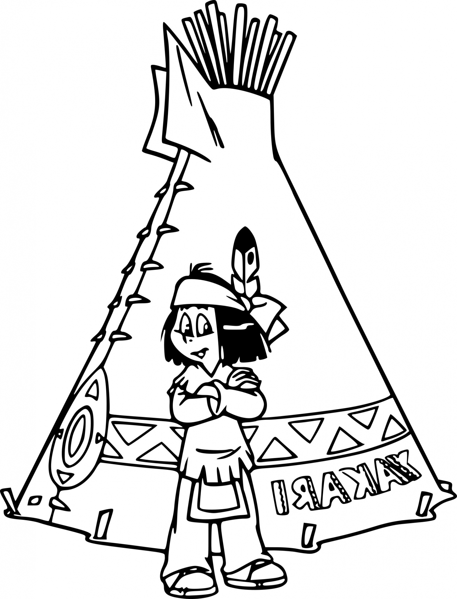 Yakari Coloring Pages pict
