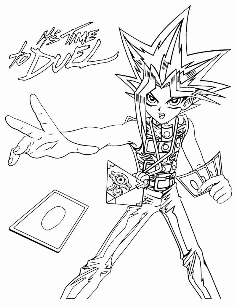 Yu Gi Oh Arc V Coloring Pages pdf