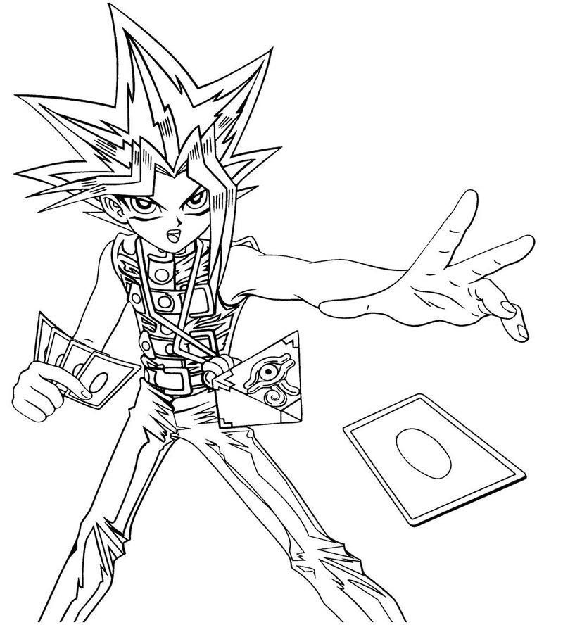 Yu Gi Oh Card Coloring Pages free