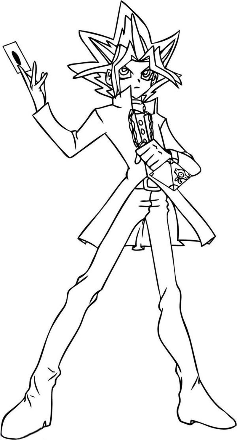 Yugioh Characters Coloring Pages free