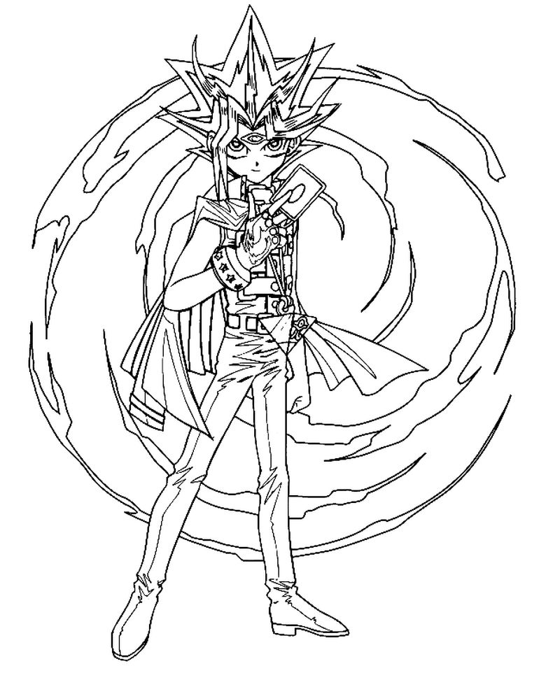 Yugioh Dark Magician Coloring Pages pdf