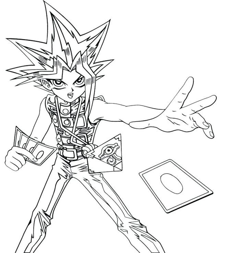 Yugioh Zexal Coloring Pages free
