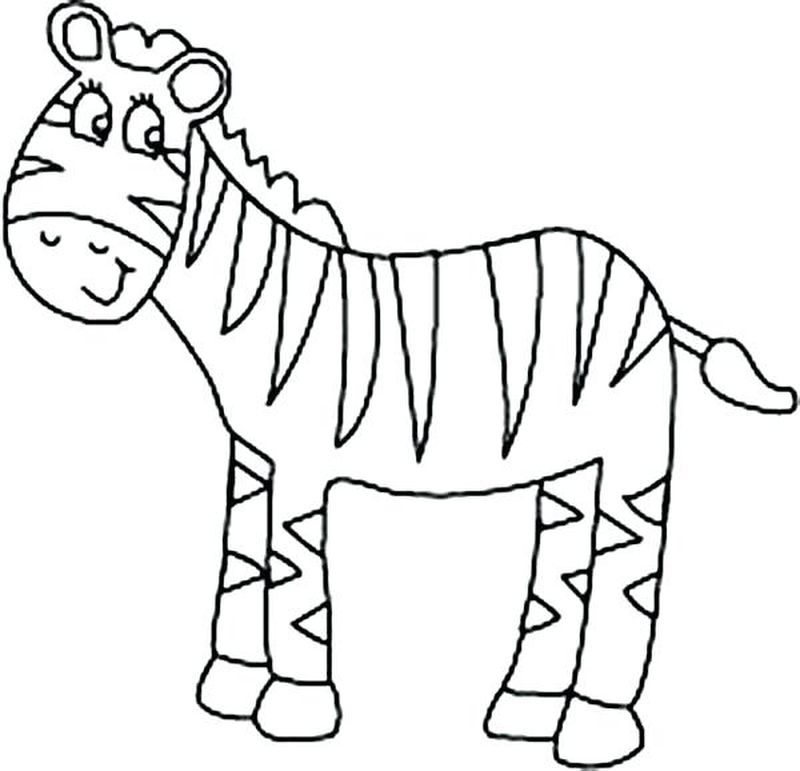 Zebra Coloring Pages For Toddlers