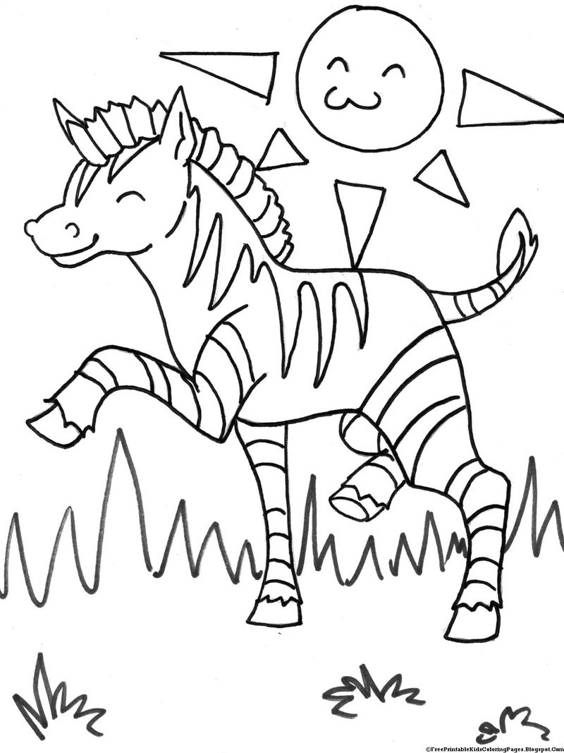 Zebra Colouring In Pages