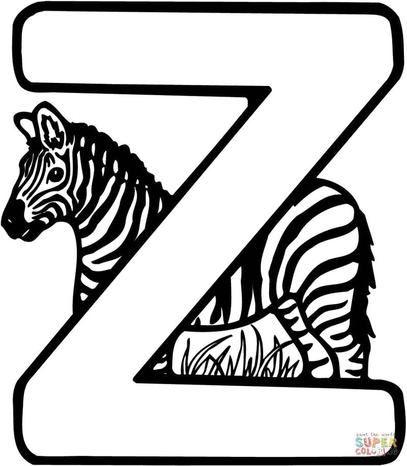 Zebra Kill Coloring Pages
