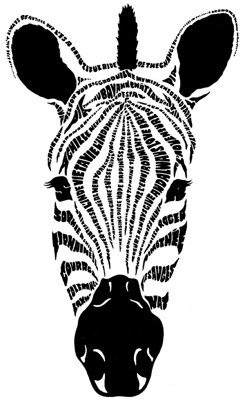 Zebra Print Coloring Pages