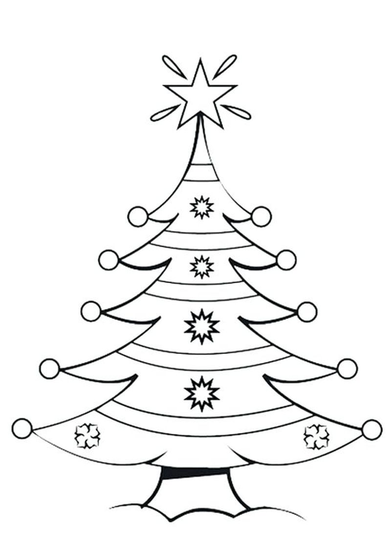 Zentangle Christmas Tree Coloring Pages