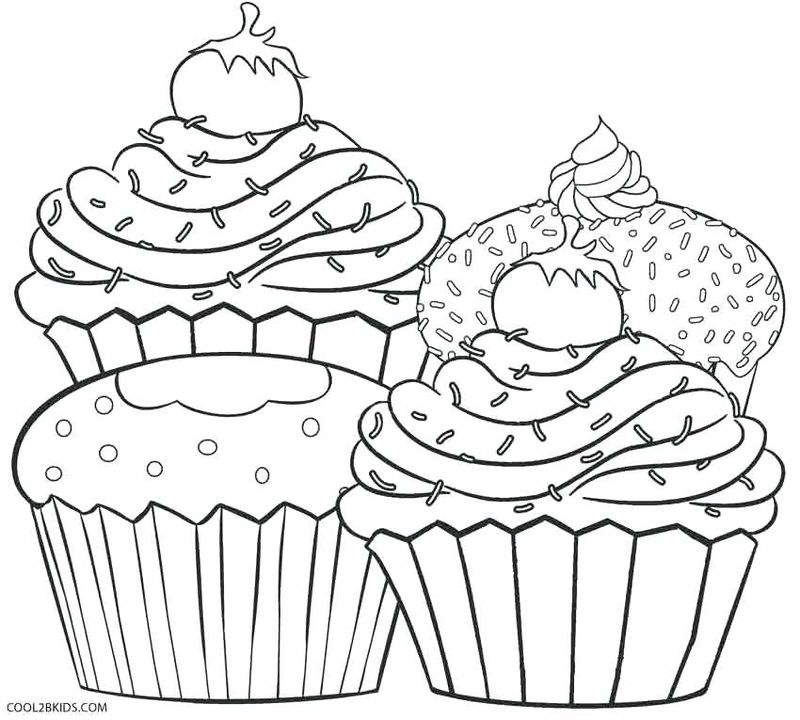 Zombie Cupcake Coloring Pages