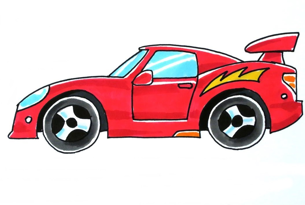 car coloring pages free pdf