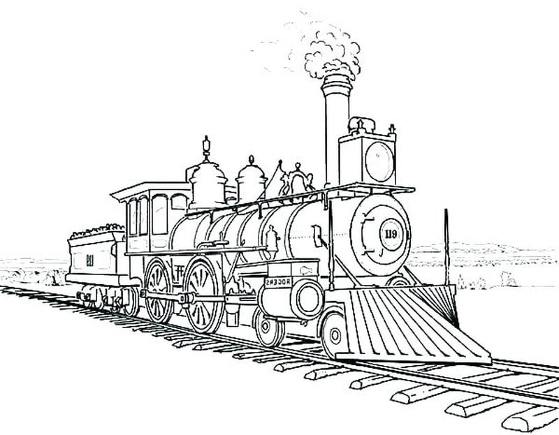 coloring pages of train
