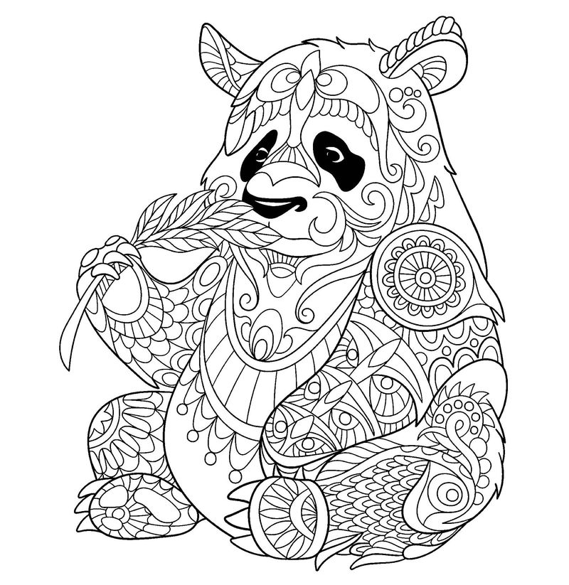 cute panda coloring pages
