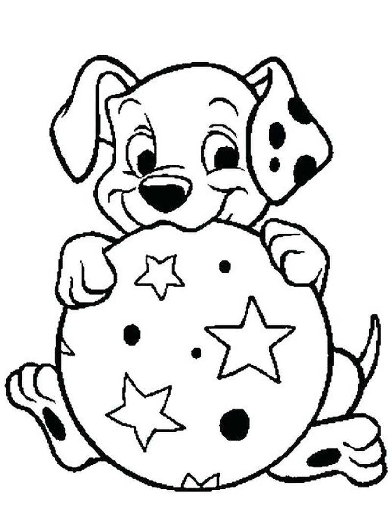dog and puppy coloring pages