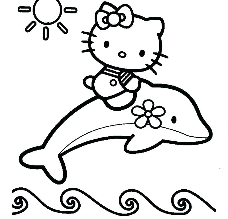 dolphin coloring pages for kids