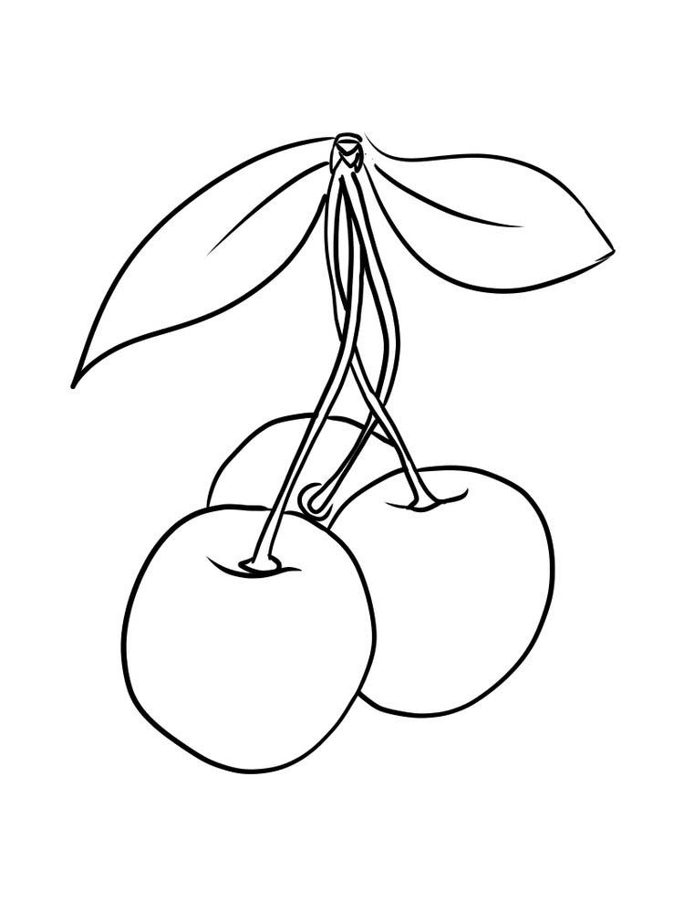 download print cherry coloring page free