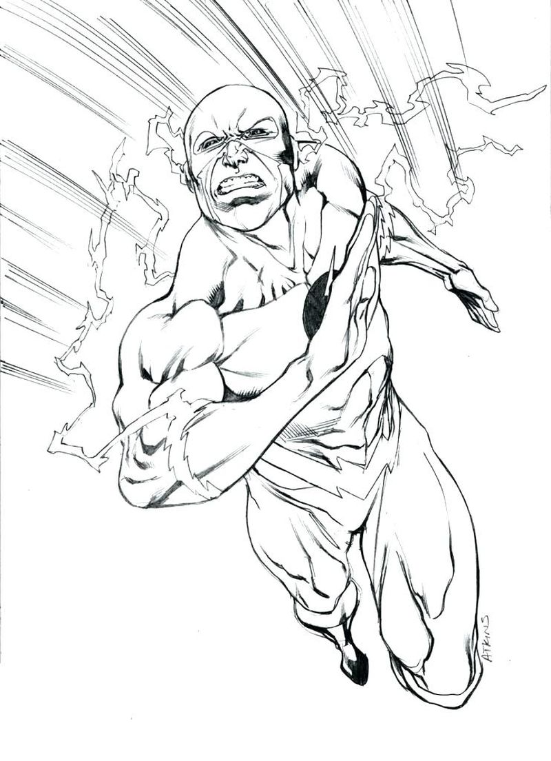 flash coloring pages free