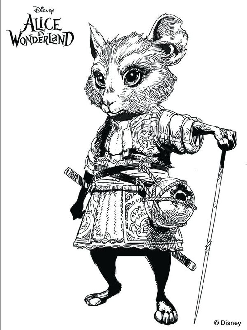 free Alice Wonderland Coloring Pages