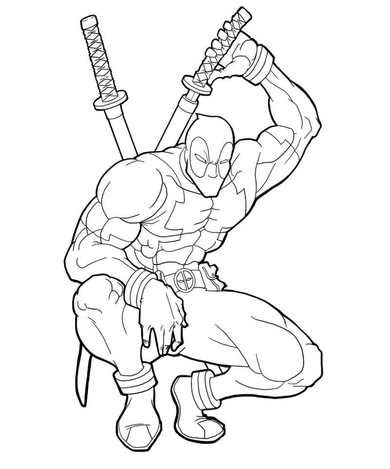 free Deadpool Coloring Pages Printable