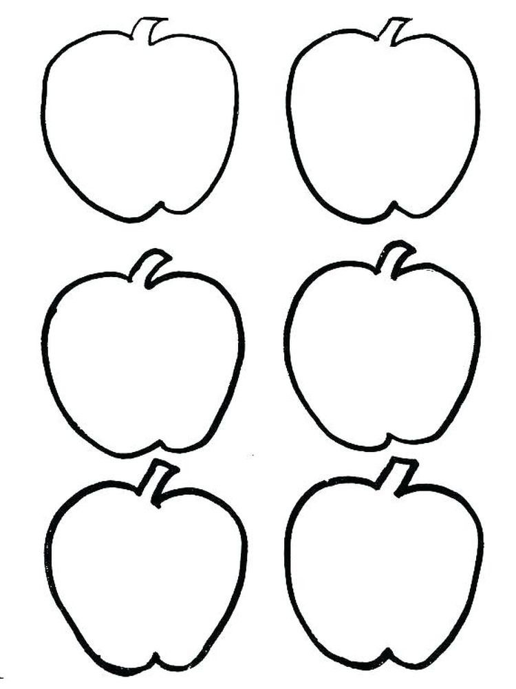 free apple coloring pages Free