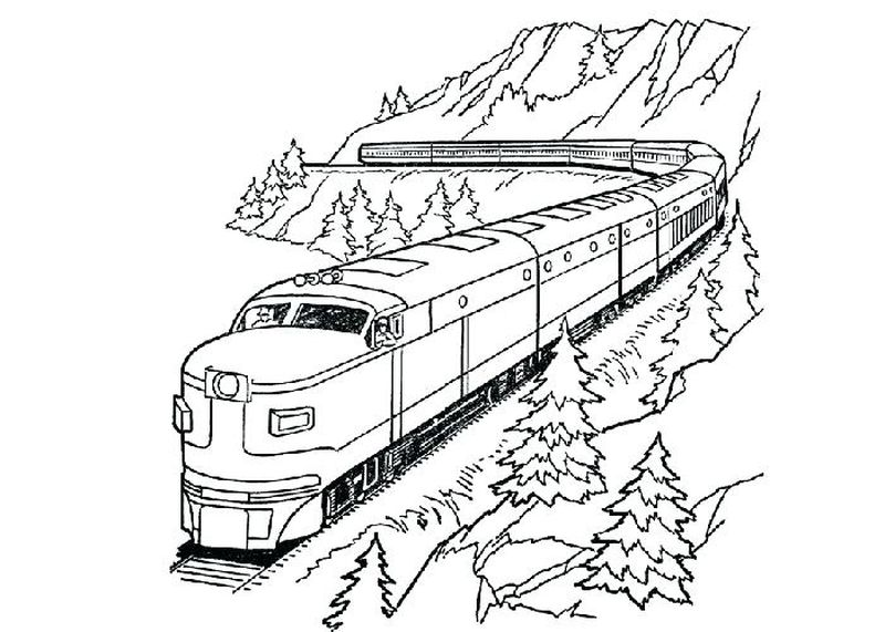 free online train coloring pages