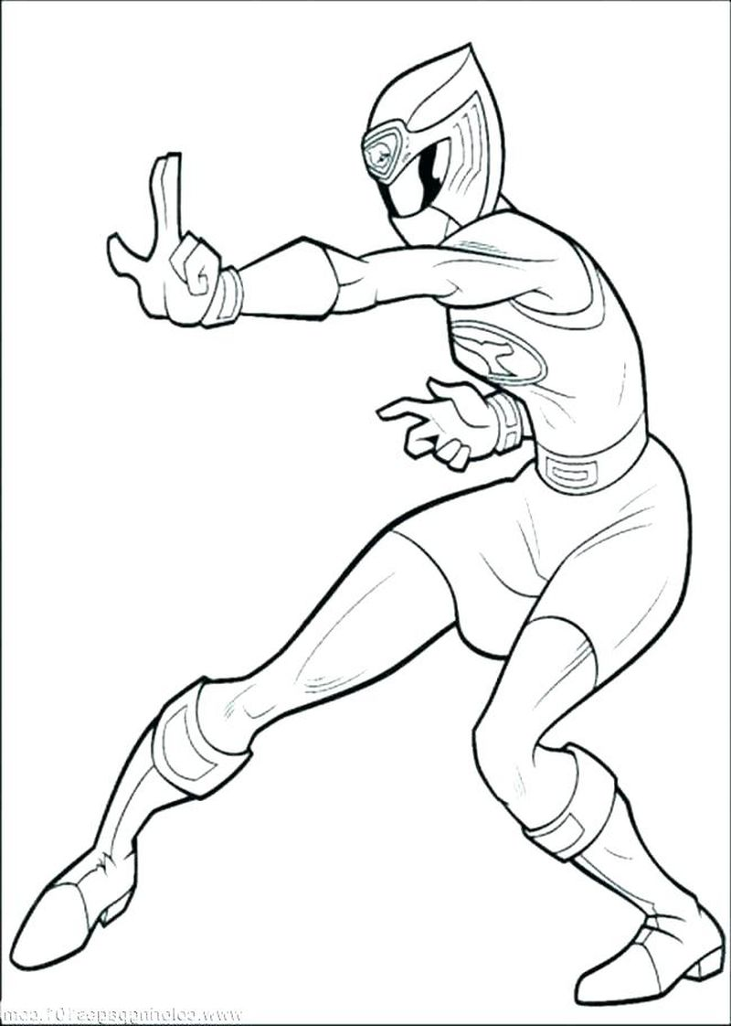 girl power rangers coloring pages