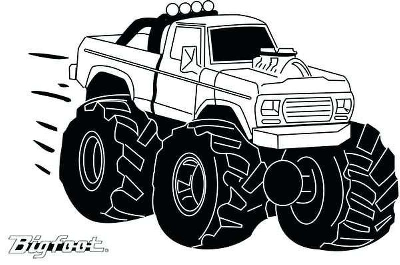 gravedigger monster truck coloring pages