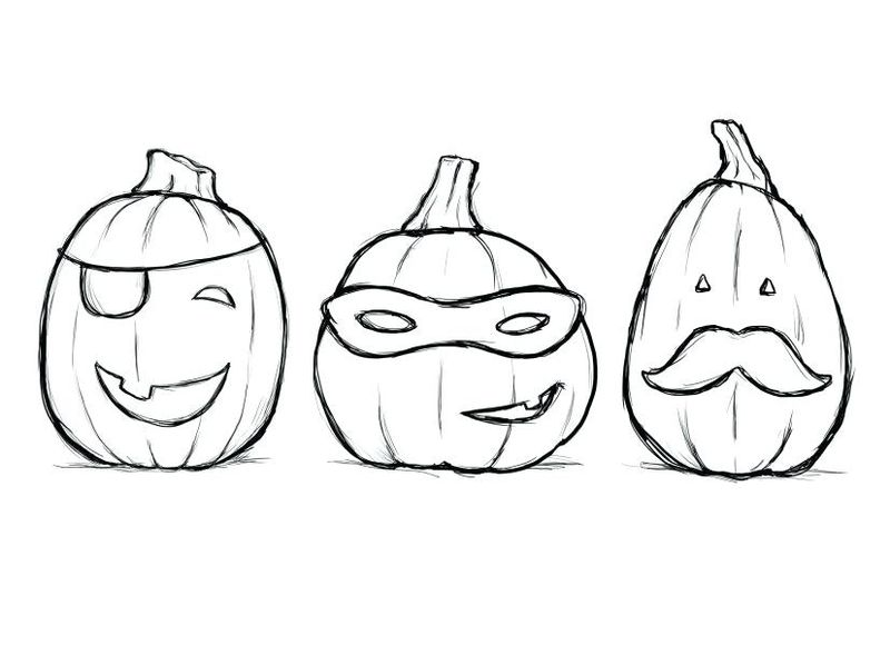 halloween pumpkin coloring pages for kids