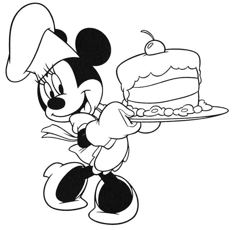 happy birthday minnie mouse coloring pages