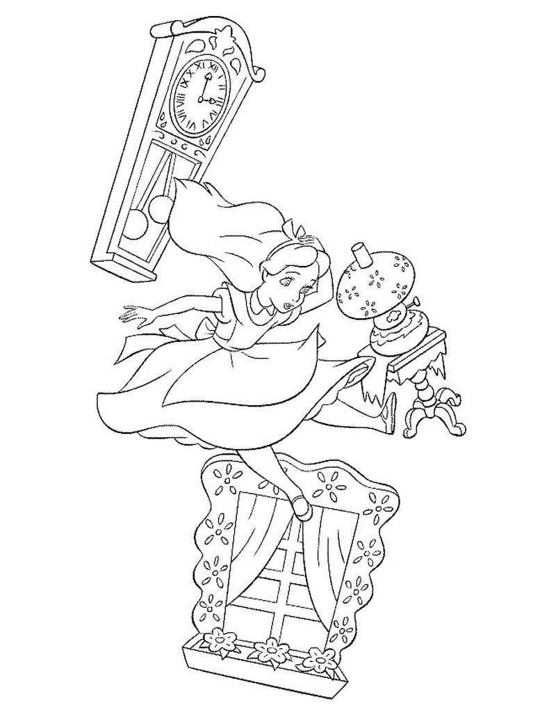 image Alice Wonderland Coloring Pages