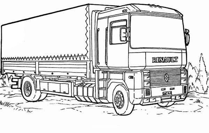 international truck coloring pages
