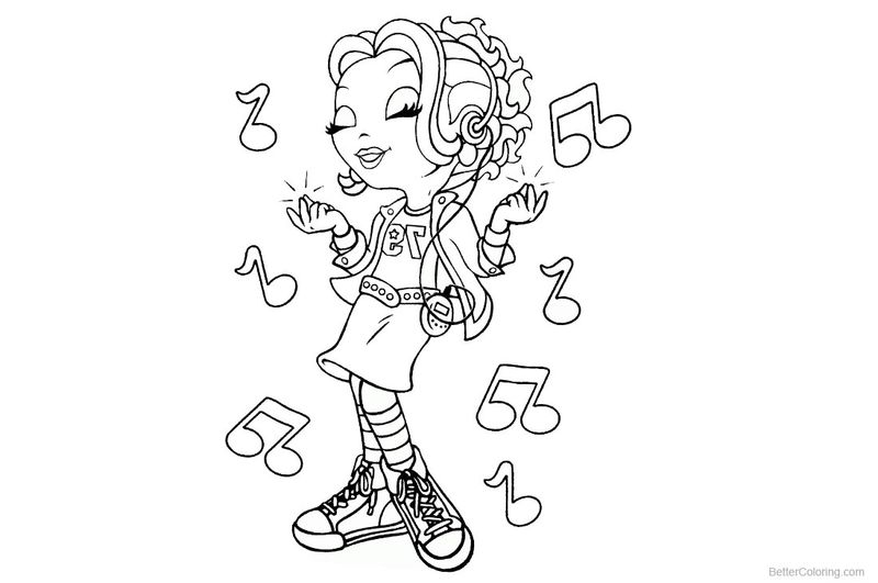 lisa frank coloring pages girl