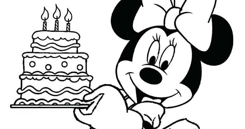 minnie mouse birthday coloring pages printable