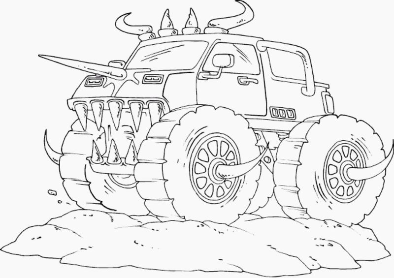 monster truck coloring pages to print
