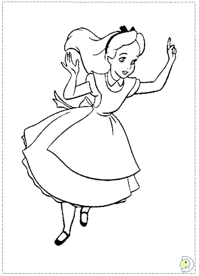 new Alice Wonderland Coloring Pages