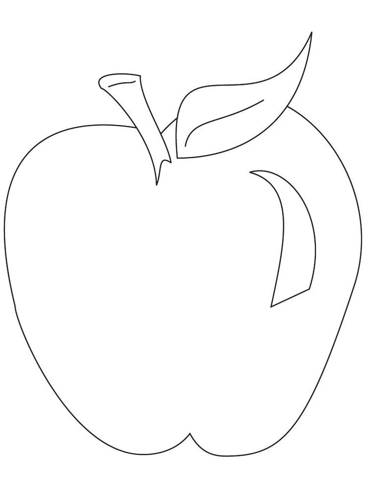new apple coloring pages Free