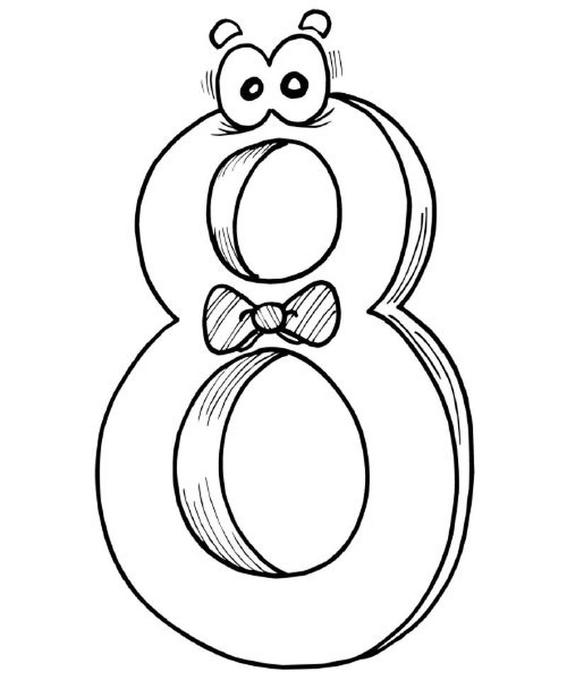 number 8 coloring pages for kids