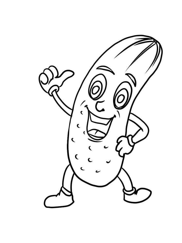 printable cucumber coloring pages pdf