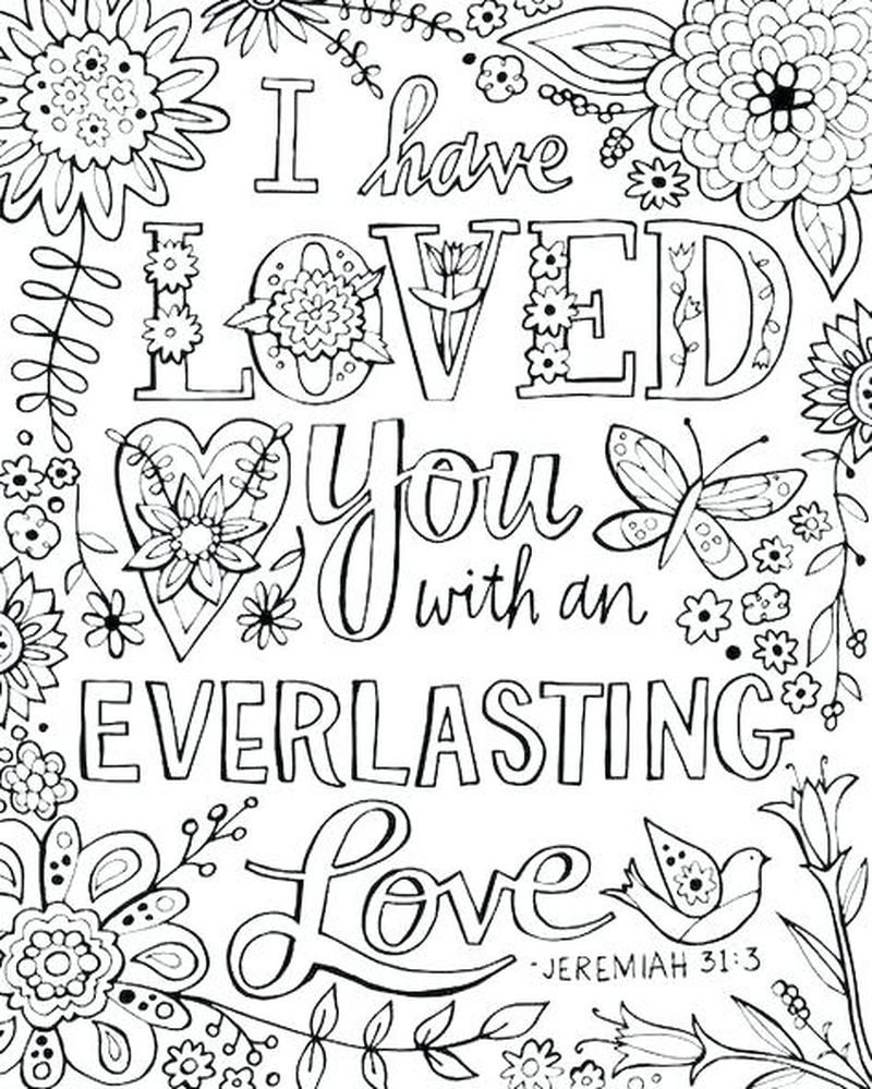 quote coloring pages love
