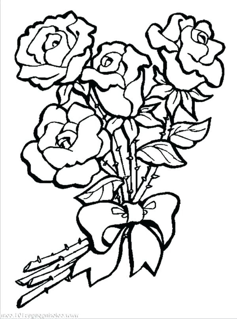 rose coloring book pages