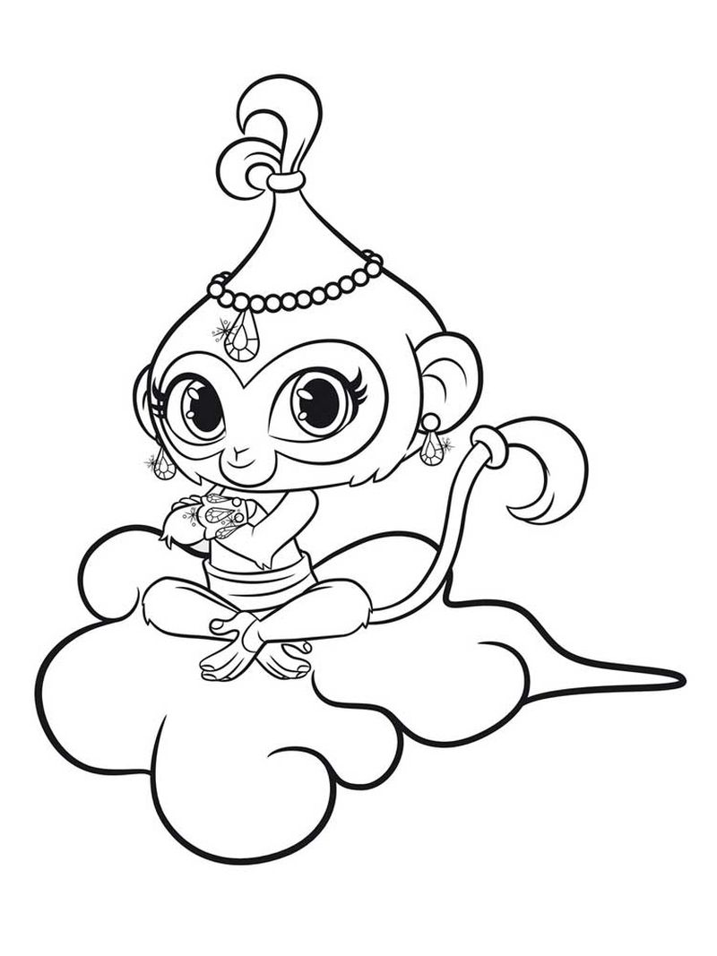 shimmer and shine coloring pages for free